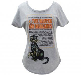 Mikhail Bulgakov / The Master and Margarita Relaxed Fit Tee (Heather Grey) (Womens)