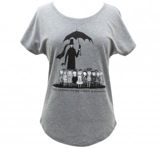 Edward Gorey / The Gashlycrumb Tinies Relaxed Fit Tee (Heather Grey) (Womens)