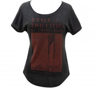 Charles Dickens / A Tale of Two Cities Relaxed Fit Tee (Vintage Black) (Womens)