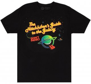 Douglas Adams / The Hitchhiker's Guide to the Galaxy Tee 2 (Black)