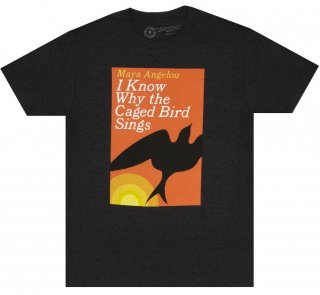 Maya Angelou / I Know Why the Caged Bird Sings Tee (Vintage Black)
