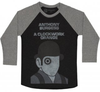 Anthony Burgess / A Clockwork Orange Raglan Tee (Black/Heather Grey)