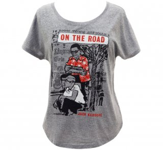 Jack Kerouac / On The Road Relaxed Fit Tee (Premium Heather) (Womens)