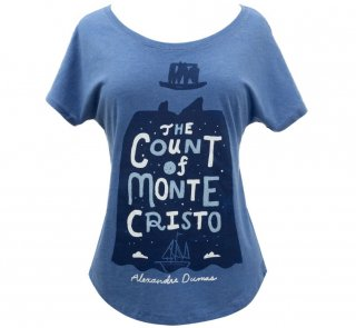 Alexandre Dumas / The Count of Monte Cristo Relaxed Fit Tee (Vintage Royal Blue) (Womens)