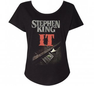 Stephen King / It Womens Relaxed Fit Tee (Black)
