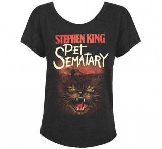 Stephen King / Pet Sematary Womens Relaxed Fit Tee (Vintage Black)