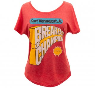 Kurt Vonnegut / Breakfast of Champions Womens Relaxed Fit Tee (Vintage Red)