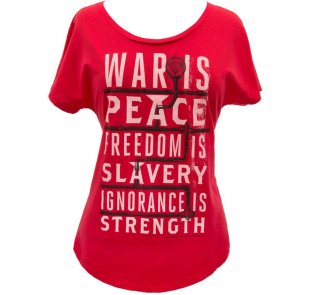 George Orwell / 1984 Womens Relaxed Fit Tee (Red)