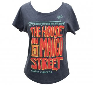 Sandra Cisneros / The House on Mango Street Womens Relaxed Fit Tee (Navy Blue)