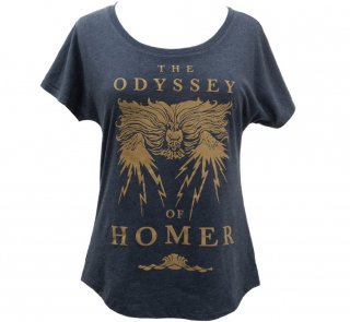 Homer / The Odyssey Womens Relaxed Fit Tee [Gilded] (Vintage Navy)