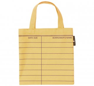 Library Card Kids Tote Bag (Yellow)