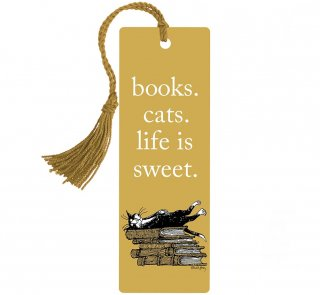 <img class='new_mark_img1' src='https://img.shop-pro.jp/img/new/icons14.gif' style='border:none;display:inline;margin:0px;padding:0px;width:auto;' />Books. Cats. Life Is Sweet. Bookmark (Edward Gorey illustration)