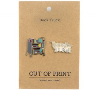 This is How We Roll Book Truck Enamel Pin Set<img class='new_mark_img2' src='https://img.shop-pro.jp/img/new/icons57.gif' style='border:none;display:inline;margin:0px;padding:0px;width:auto;' />