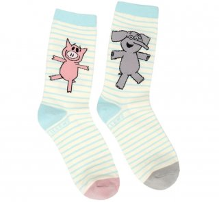 <img class='new_mark_img1' src='https://img.shop-pro.jp/img/new/icons14.gif' style='border:none;display:inline;margin:0px;padding:0px;width:auto;' />Mo Willems / Elephant & Piggie Socks