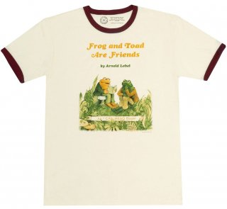 <img class='new_mark_img1' src='https://img.shop-pro.jp/img/new/icons14.gif' style='border:none;display:inline;margin:0px;padding:0px;width:auto;' />Arnold Lobel / Frog and Toad are Friends Ringer Tee (Natural)