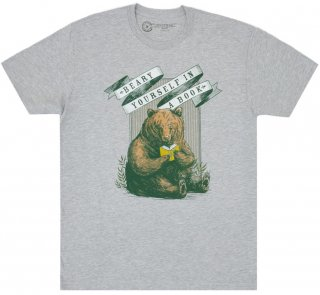 <img class='new_mark_img1' src='https://img.shop-pro.jp/img/new/icons14.gif' style='border:none;display:inline;margin:0px;padding:0px;width:auto;' />Beary Yourself in a Book Tee (Heather Grey)