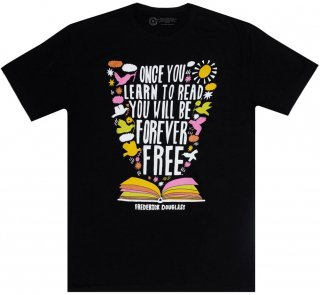 <img class='new_mark_img1' src='https://img.shop-pro.jp/img/new/icons14.gif' style='border:none;display:inline;margin:0px;padding:0px;width:auto;' />Frederick Douglass / Once You Learn to Read Tee (Black)