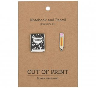 <img class='new_mark_img1' src='https://img.shop-pro.jp/img/new/icons14.gif' style='border:none;display:inline;margin:0px;padding:0px;width:auto;' />Composition Notebook and Pencil Enamel Pin Set