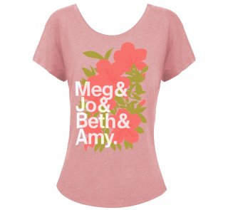 <img class='new_mark_img1' src='https://img.shop-pro.jp/img/new/icons14.gif' style='border:none;display:inline;margin:0px;padding:0px;width:auto;' />Louisa May Alcott / Little Women Womens Relaxed Fit Tee (Desert Pink)