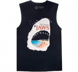 Peter Benchley / Jaws Tank Top (Midnight Navy)