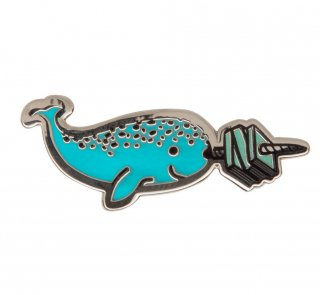Read Like a Narwhal Enamel Pin