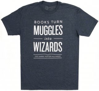 Books Turn Muggles into Wizards Tee (Midnight Navy)