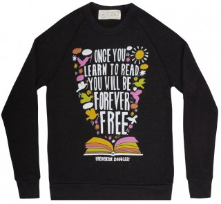 <img class='new_mark_img1' src='https://img.shop-pro.jp/img/new/icons14.gif' style='border:none;display:inline;margin:0px;padding:0px;width:auto;' />Frederick Douglass / Once You Learn to Read Sweatshirt (Black)