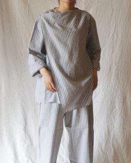 Cristaseya:Asymetrical Striped Top