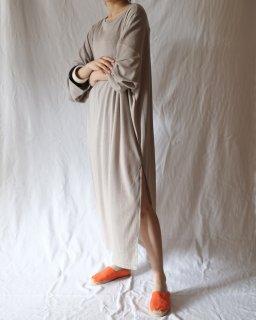 CAN PEP REY:Cotton Silk Long Sleeve T-Dress