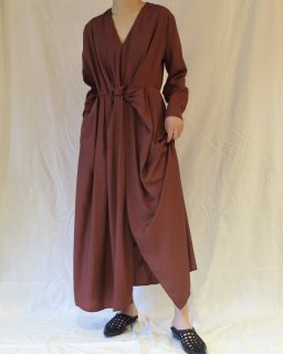 Christian Wijnants:Front ribbon one-piece - Brown