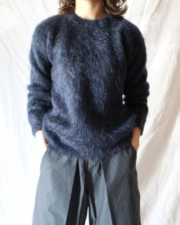 Cristaseya:Mohair Sweater - SMOKY NAVY