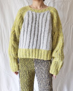 ECKHAUS LATTA:CABLE KNIT SWEATER