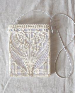 Mame Kurogouchi:Cording Embroidery Pouch - WHITE