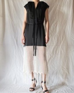 WALES BONNER:LUCIA GATHERED CROCHET DRESS