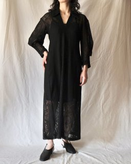 Mame Kurogouchi:Curtain Lace Jacquard Jersey Dress