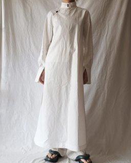 FUMIKA UCHIDA: COATED LINEN ROPE TRIM CHINA SHIRT - WHITE