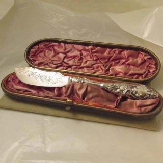 英国製シルバーバターナイフ