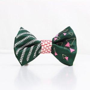 【mens】 刺繍の蝶ネクタイ 三角の連なり びろうど TATEHA tie