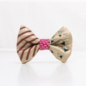 【mens】 刺繍の蝶ネクタイ 三角の連なり 木蘭 TATEHA tie