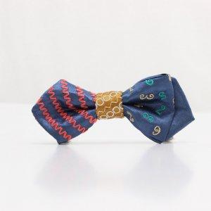 【kids】 刺繍の蝶ネクタイ マジカルラッシュ つゆ草 AGEHA tie