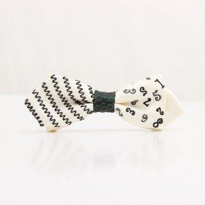 【kids】 刺繍の蝶ネクタイ マジカルラッシュ 月白 AGEHA tie