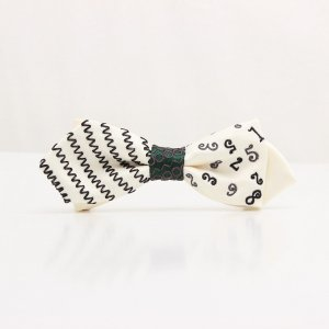 【mens】 刺繍の蝶ネクタイ マジカルラッシュ 月白 AGEHA tie