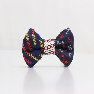 【kids】 刺繍の蝶ネクタイ マジカルラッシュ 藍 TATEHA tie