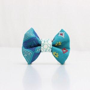 【kids】 刺繍の蝶ネクタイ ネイティブスクエア あさぎ TATEHA tie