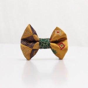 【kids】 刺繍の蝶ネクタイ ネイティブスクエア 琥珀 TATEHA tie