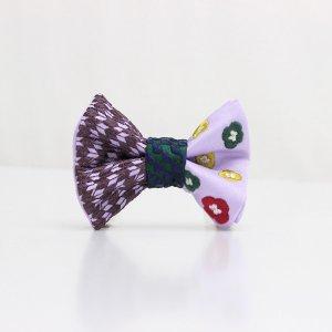 【kids】 刺繍の蝶ネクタイ 恋する和の文様 ふじ紫 TATEHA tie