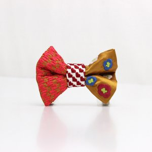 【kids】 刺繍の蝶ネクタイ 恋する和の文様 琥珀 TATEHA tie