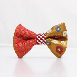 【mens】 刺繍の蝶ネクタイ 恋する和の文様 琥珀 TATEHA tie
