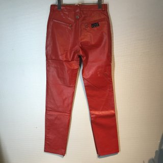 LA ROCKA Leather Trousers Pants Red