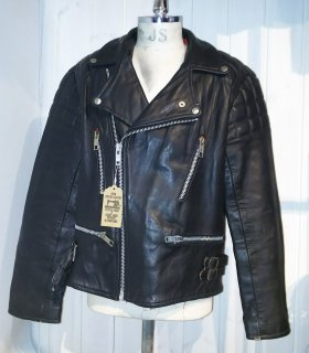 80's MADE IN ENGLAND Double Leather Jacket